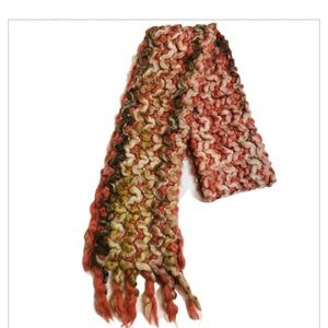 Luciano Berni Italy Knit Wool Blend Chunky Scarf